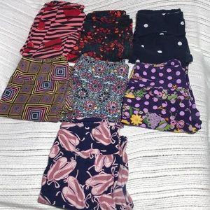 LuLaRoe Leggings (7 pairs)